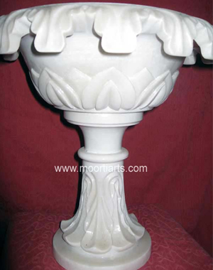 Marble Pedestals And Plant Pots